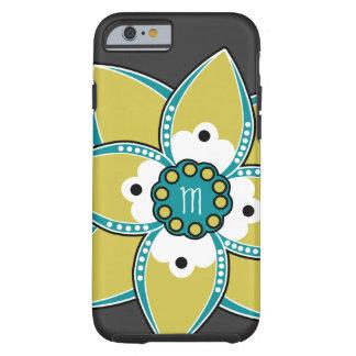 Jolie sauge et conception bleue de pétale de fleur coque tough iPhone 6