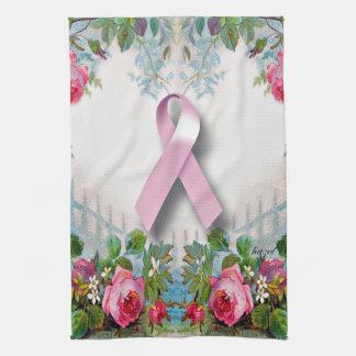 Jolie serviette de cuisine de survivant de cancer