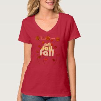 Jolie T-shirt floral personnalisé d'automne par