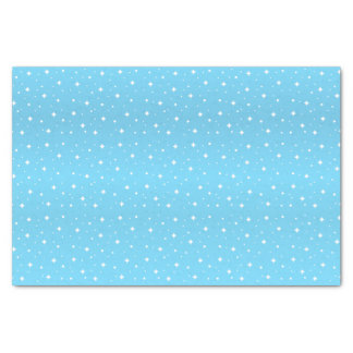 Jolies étoiles de bleus layette et de blanc papier mousseline