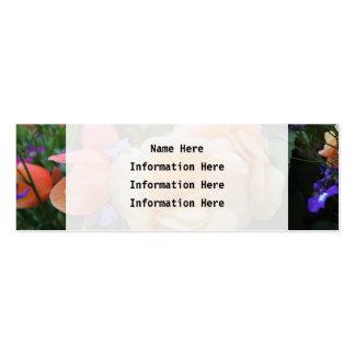Jolies fleurs carte de visite petit format