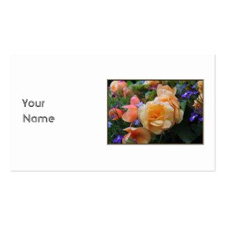 Jolies fleurs carte de visite standard