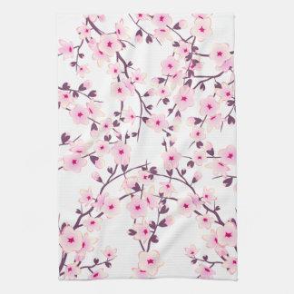 Jolies fleurs de cerisier linge de cuisine