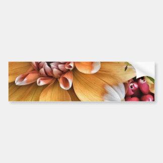 Jolies fleurs de dahlia autocollant de voiture