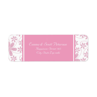 Jolies fleurs épousant l'étiquette de adresse de étiquette d'adresse retour