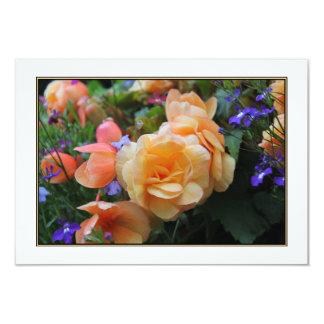 Jolies fleurs carton d'invitation 8,89 cm x 12,70 cm