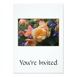 Jolies fleurs carton d'invitation  12,7 cm x 17,78 cm