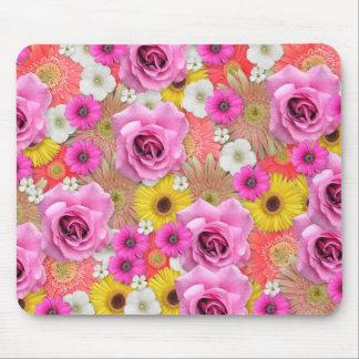 Jolies fleurs Mousepad Tapis De Souris