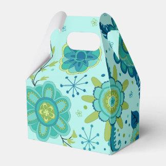 Jolies fleurs turquoises ballotins