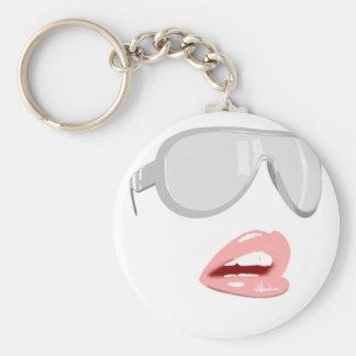 Jolies nuances et lèvres porte-clé rond