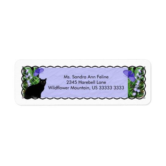 Jolis fleurs sauvages et étiquettes de adresse de