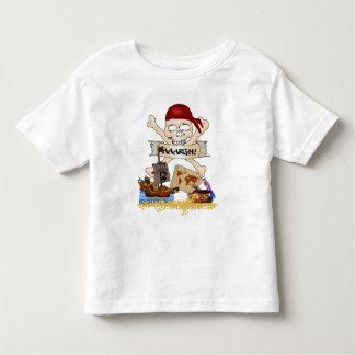 Jolly roger, bateau de pirate et coffre du pirate t-shirt pour les tous petits