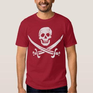Jolly roger de drapeau de pirate de John Rackham T-shirts