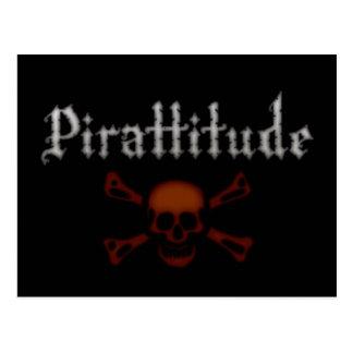 Jolly roger de sang de Pirattitude Carte Postale
