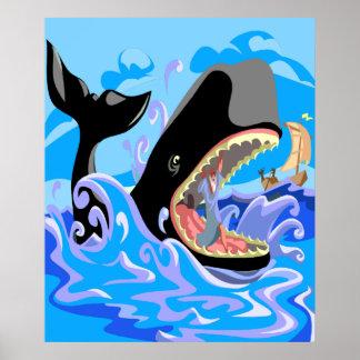 Jonas dans l'affiche de baleine posters
