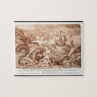 Jonas et la baleine, illustration d'une bible, en puzzle