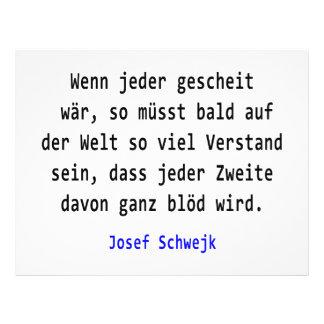 Josef Schwejk - si chacun intelligemment wär Prospectus Personnalisés