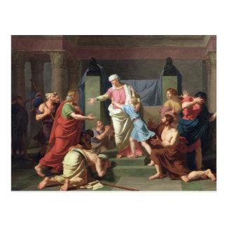 Joseph a reconnu par ses frères, 1789 carte postale