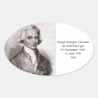 Joseph Bologne, Chevalier de Saint-Georges Sticker Ovale