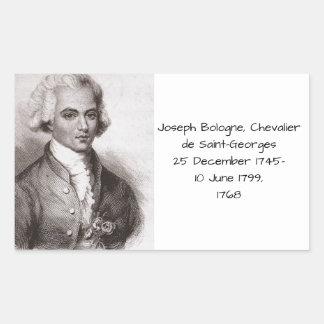 Joseph Bologne, Chevalier de Saint-Georges Sticker Rectangulaire