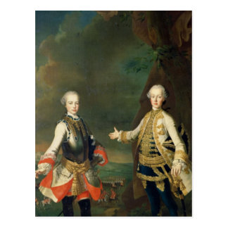 Joseph et Leopold, fils de Francis I et Maria Carte Postale