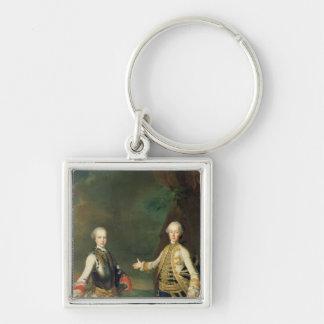 Joseph et Leopold, fils de Francis I et Maria Porte-clé Carré Argenté
