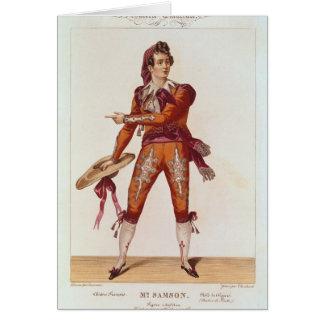 Joseph Isidore Samson dans le rôle de Figaro Carte De Vœux