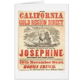 """""""Josephine"""" à la publicité de la Californie Carte De Vœux"""