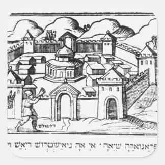 Joshua aux murs de Jéricho Autocollants Carrés