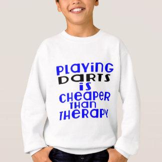 Jouant des dards meilleur marché que la thérapie sweatshirt