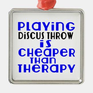 Jouant la lancée de disque meilleur marché que la ornement carré argenté