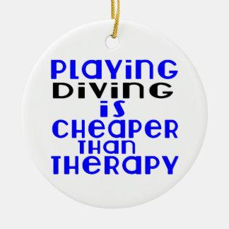Jouant la plongée meilleur marché que la thérapie ornement rond en céramique
