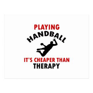 jouer au handball carte postale