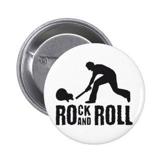 jouer du rock and petit pain badge rond 5 cm