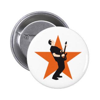 jouer du rock plus player e-guitar badge rond 5 cm