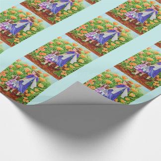 Jouet de licorne de fées de pavot papier cadeau
