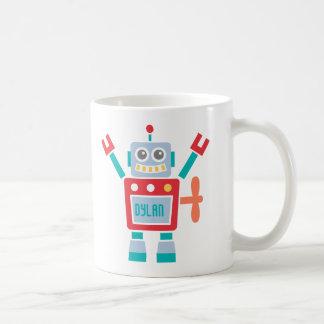 Jouet mignon vintage de robot pour des enfants mug blanc
