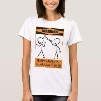 Joueur capricieux d'avertissement de balalaïka t-shirt