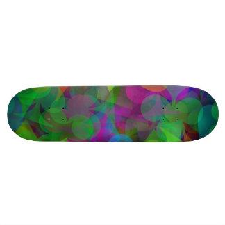 Joueur chanceux abstrait de gagnant skateboard customisable