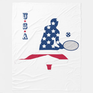 Joueur d'Américain de tennis des Etats-Unis Couverture Polaire