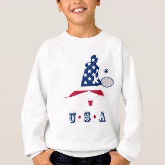 Joueur d'Américain de tennis des Etats-Unis Sweatshirt