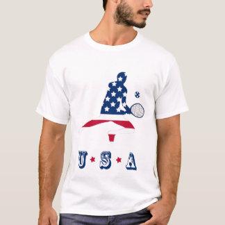 Joueur d'Américain de tennis des Etats-Unis T-shirt