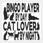 Joueur de bingo-test d'amoureux des chats autocollant