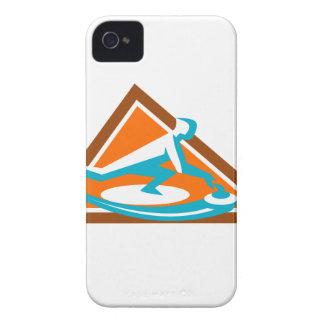 Joueur de bordage glissant l'icône en pierre de coques iPhone 4