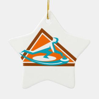 Joueur de bordage glissant l'icône en pierre de ornement étoile en céramique