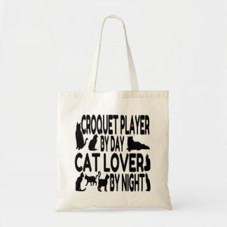 Joueur de croquet d'amoureux des chats sac