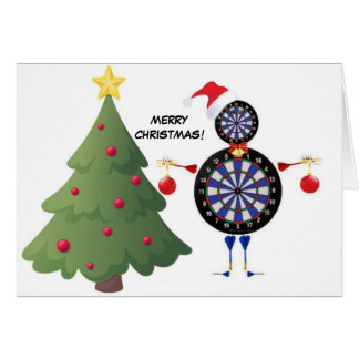 Joueur de dard de Joyeux Noël Cartes