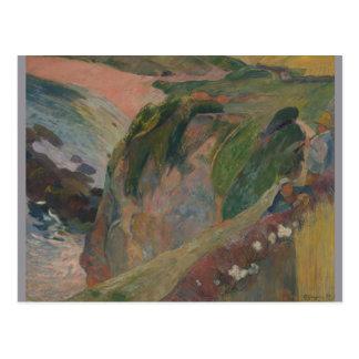 Joueur de flageolet sur la falaise par Paul Carte Postale