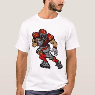 Joueur de football américain musculaire t-shirt