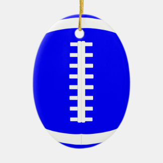 Joueur de football ou ornement bleu de Noël